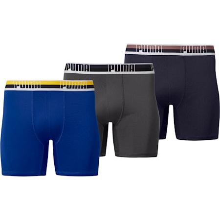 Men's Tech Boxer Briefs [3 Pack], NAVY / LT BLUE, small